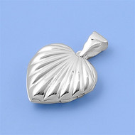 Heart Classic Locket Pendant Sterling Silver 24MM