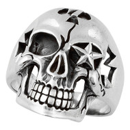 Seven Seals Skull Ring Sterling Silver 925