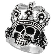 King of Hell Skull Ring Sterling Silver 925