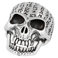Genghis Khan Skull Ring Sterling Silver 925