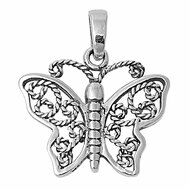 Butterfly Mimicry Pendant Sterling Silver 14MM