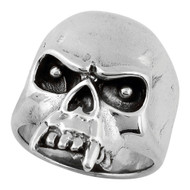 Vampire of Hell Skull Ring Sterling Silver 925