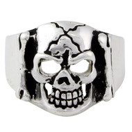 Branded to Die Skull Ring Sterling Silver 925