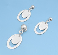Oval Matching Set Sterling Silver 28MM