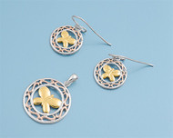 Butterfly Matching Set Sterling Silver 21MM