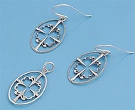 Oval Matching Set Sterling Silver 22MM