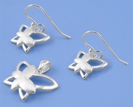 Butterfly Matching Set Sterling Silver 14MM