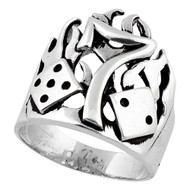 Burning Number 7 Ring Sterling Silver 925
