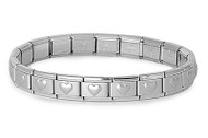 Designer Style Heart Bracelet Stainles Steel Adjustable