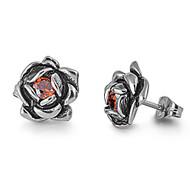 Stainles Steel Earrings Cubic Zirconia 12MM