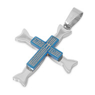 Cross Pendant Stainles Steel 36MM
