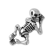 Skeleton Pendant Stainles Steel 33MM