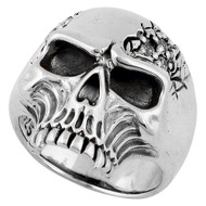 Galloping Vampire Skull Ring Sterling Silver 925