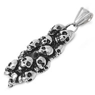 Pile of Skulls Pendant Stainles Steel 43MM