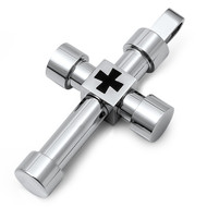 Cross Pendant Stainles Steel 58MM