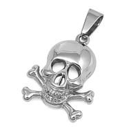 Crossbones Skull Pendant Stainles Steel 28MM
