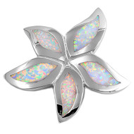 Starfish Simulated Opal Pendant Sterling Silver  38MM