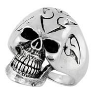 Hell Breed Skull Ring Sterling Silver 925