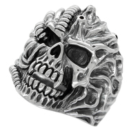 Alien Beast Skull Ring Sterling Silver 925
