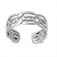Wicca Celtic Craft Knuckle/Toe Ring Sterling Silver  6MM