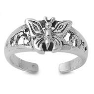 Butterfly Love Knuckle/Toe Ring Sterling Silver  8MM