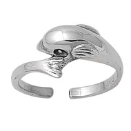 Dolphins Knuckle/Toe Ring Sterling Silver  8MM