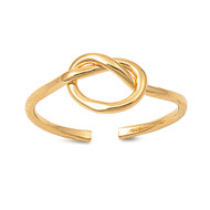 Heart Knot Knuckle/Toe Ring Gold Plated Sterling Silver  7MM