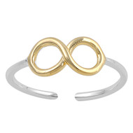 Two Toned Infinity Knuckle/Toe Ring Sterling Silver  5MM