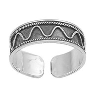 Sterling Silver Bali Knuckle/Toe Ring 5MM