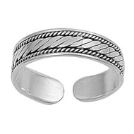Sterling Silver Bali Knuckle/Toe Ring 4MM