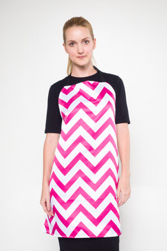 Angels Grooming Apparel - Catalina Two Pocket Reversible Grooming Apron - Pink Chevron