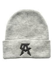 CA icon Grey Beanie - Full View