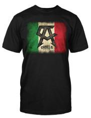 """Canelo Alvarez """"Mexican Flag"""" Black Shirt"""