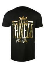 """Team """"Canelo"""" In gold foil."""