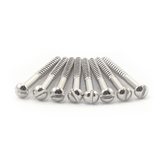 "#2 X 1"" Nickel Plated Round Head Wood Screw"