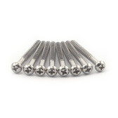 "#4 X 1 1/4"" Nickel Plated Round Head  Wood Screw (P Bass & Jazz Bass)"