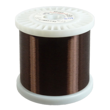Plain enamel magnet wire 42 awg 50 lbs pickup wire 42 awg plain enamel copper magnet wire 365 lbs 185931 ft greentooth Choice Image