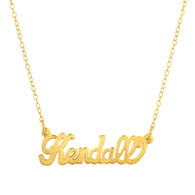Metal Nameplate Necklace with Chain