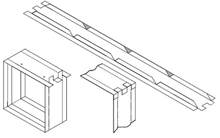 FD-IF135- FIRE DAMPER FRAME INTEGRATED ROLL FORMING MACHINE
