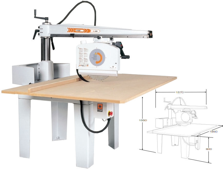 Big 800 Radial Arm Saw Machine