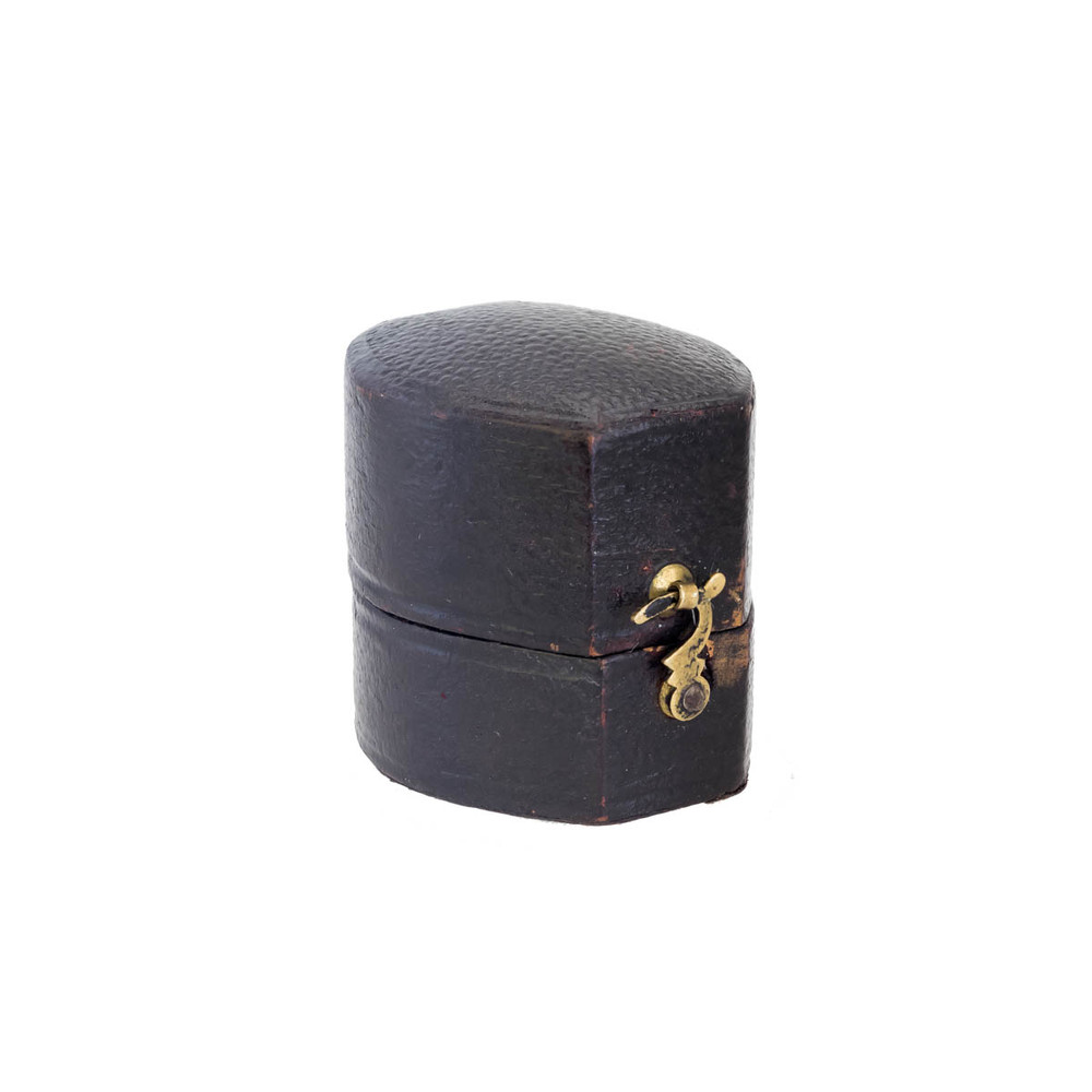 antique leather ring box