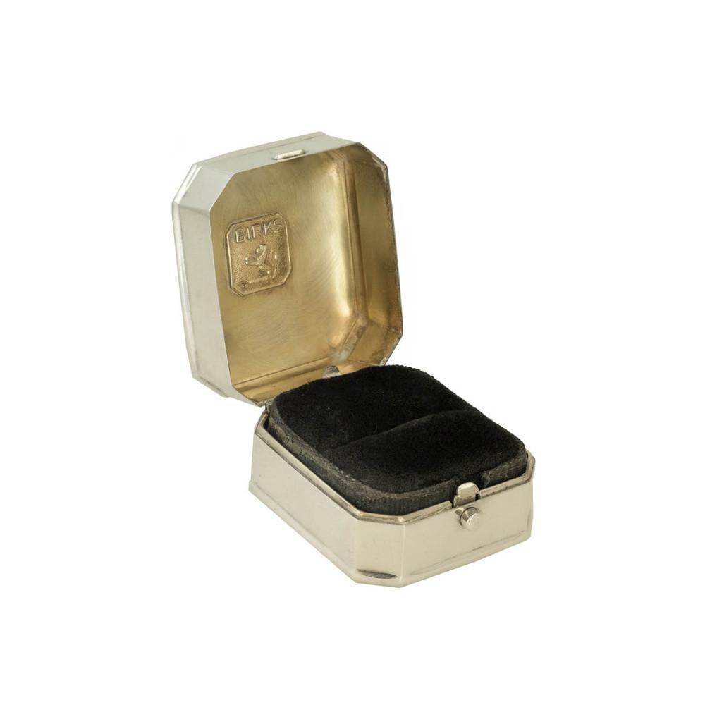 birks vintage silver ring box engagement ring box. Black Bedroom Furniture Sets. Home Design Ideas