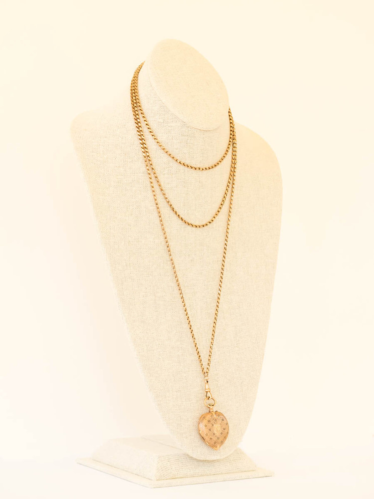 15 ct Gold Antique Pocket Watch on Long Guard Chain