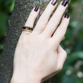 Antique Black Enamel and Gold Ring from the Georgian Period