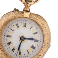 Antique Pocket Watch with Gold Flowers & Gold Stars