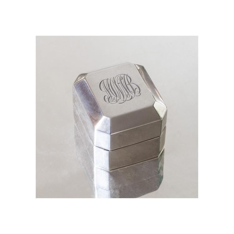 Vintage Silver Ring Box