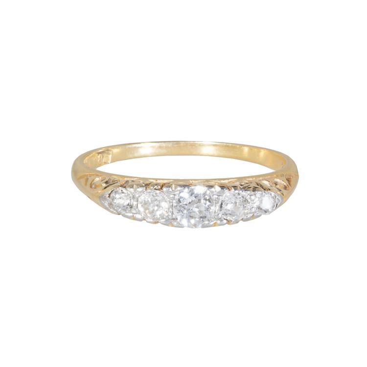 Antique Pearl, Diamond Ring, 18 Ct