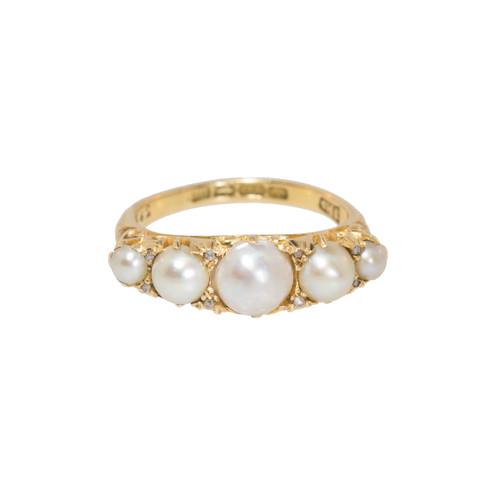 antique pearl ring 18 ct sugar et cie