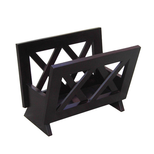 Oceanstar Contemporary Mahogany Solid Wood Magazine Rack