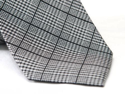 Jack Franklin Black Plaid Men's Tie
